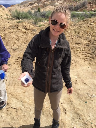 Mary Collecting, Mineral Collecting, azurite, Tour group