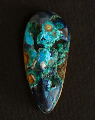 Azurite and malachite cab.