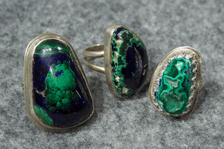 Azurite/ Malachite Rings