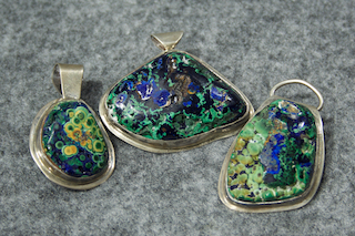Azurite/ Malachite Siver Jewelry